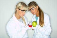 Female in lab Stock Photos