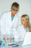 Female in lab Royalty Free Stock Images