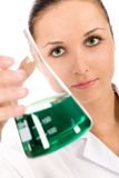 Female lab worker Royalty Free Stock Photo