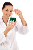 Female lab worker Royalty Free Stock Photos