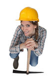 Female laborer posing Royalty Free Stock Photos