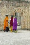 Female Laborers in Colorful Sari's Stock Photo