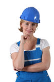 Female labourer Royalty Free Stock Photo