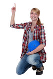 Female labourer Royalty Free Stock Images