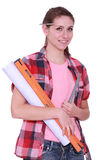 Female labourer Royalty Free Stock Photography