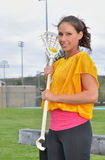 Female Lacrosse player Stock Photography