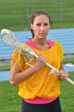 Female Lacrosse player Stock Photo