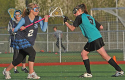 Female lacrosse players Stock Photo