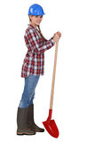 Female landscape gardener Stock Photo