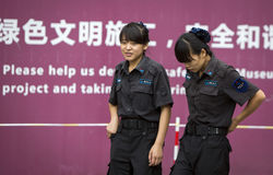 Female law enforcement officers Stock Images