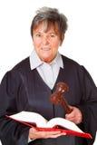 Female lawyer. Isolated on white background stock image
