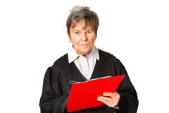 Female lawyer with clipboard Royalty Free Stock Photos