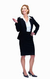 Female lawyer showing copyspace Royalty Free Stock Photo