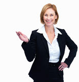 Female lawyer showing something interesting Royalty Free Stock Photography