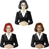 Female lawyer support expert Stock Image