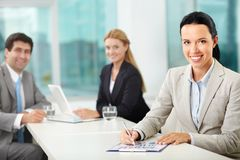 Female leader Stock Photography