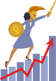 Female leader in business Royalty Free Stock Image