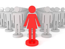 Female leader Royalty Free Stock Images