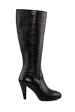 Female leather boot with high heel Royalty Free Stock Photos