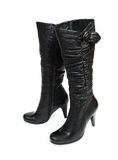 Female leather boots Stock Photos