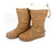 Female leather boots Royalty Free Stock Image