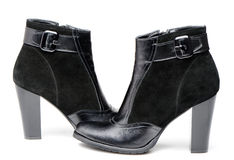 Female leather boots Royalty Free Stock Photography