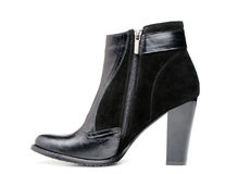 Female leather boots Stock Images