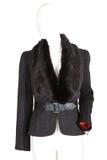 Female leather coat   Isolated Stock Image