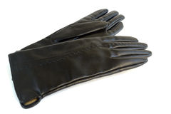 Female leather gloves for autumn Royalty Free Stock Images