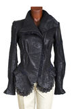 Female leather jacket Stock Photography