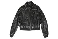 Female leather jacket stock photography