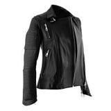 Female leather jacket. On isolated white background stock image