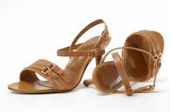 Female Leather shoes Stock Photo