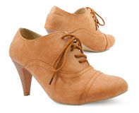 Female leather shoes Royalty Free Stock Images