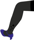 Female leg Royalty Free Stock Image