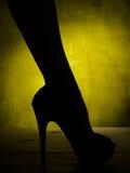 Female leg in high heel Stock Photos