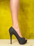 Female leg in high heel Stock Photo