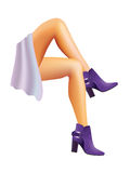 Female legs. Royalty Free Stock Photo
