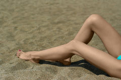 Female legs Royalty Free Stock Image