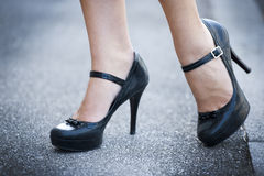 Female Legs And High Heels Shoes Stock Image