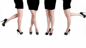 Female legs. Beautiful female legs on white background Royalty Free Stock Images