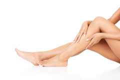 Female legs. Closeup.Bodypart. Royalty Free Stock Image