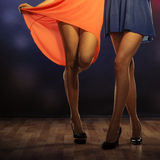 Female legs dancing in club Royalty Free Stock Photography
