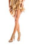 Female legs in dress Stock Image