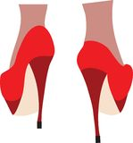 Female legs in fashion high heel shoes. Royalty Free Stock Image