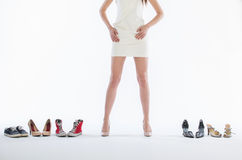 Female legs in fashion shoes Stock Image