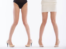 Female legs in fashion shoes Royalty Free Stock Photo