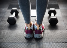 Female legs at gym Royalty Free Stock Photo