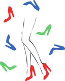 Female legs with heels Stock Image