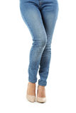 Female legs in high-heeled shoes Royalty Free Stock Photography